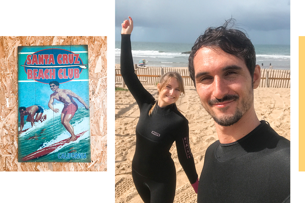 Surfer à Soulac