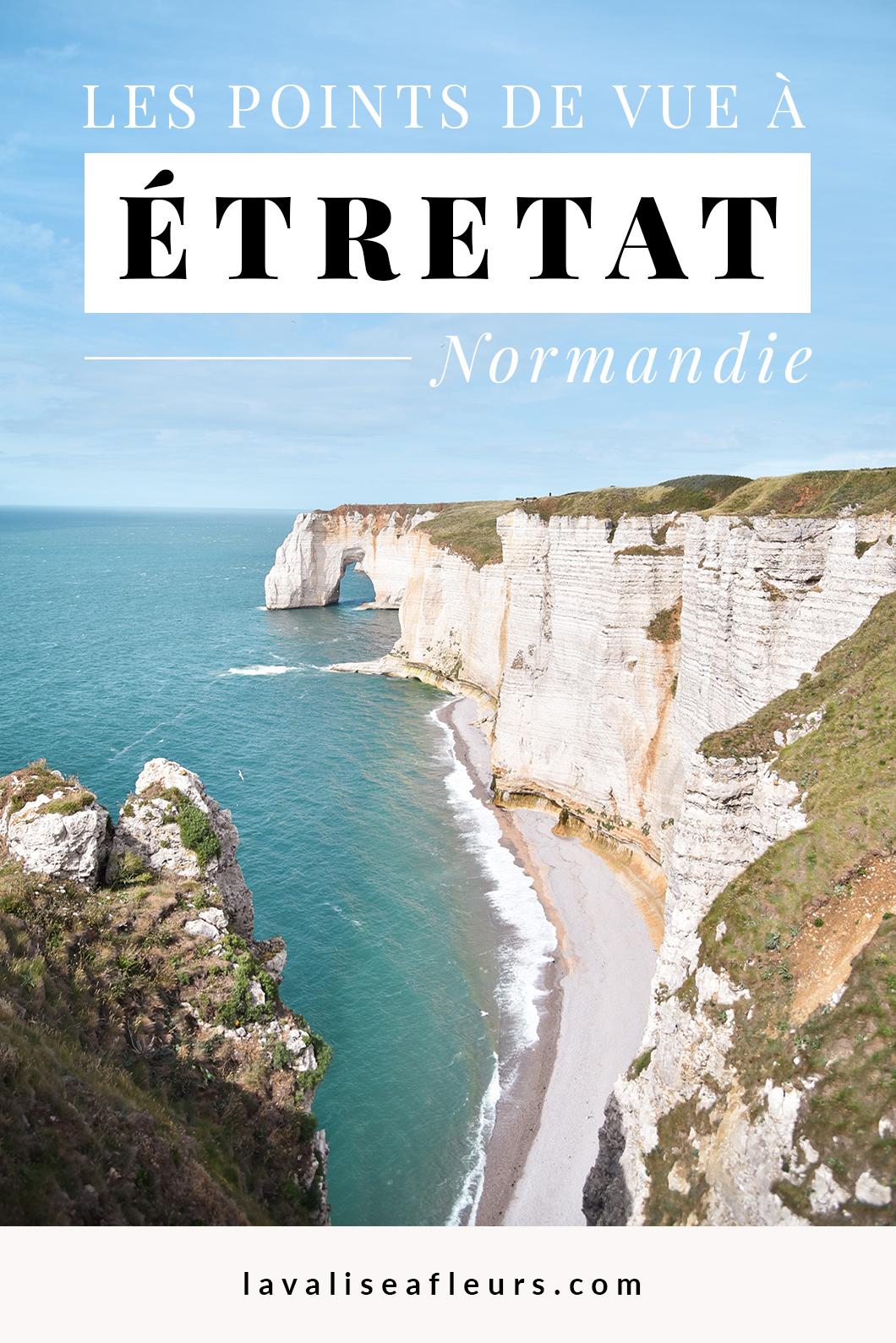 Les points de vue à Étretat en Normandie