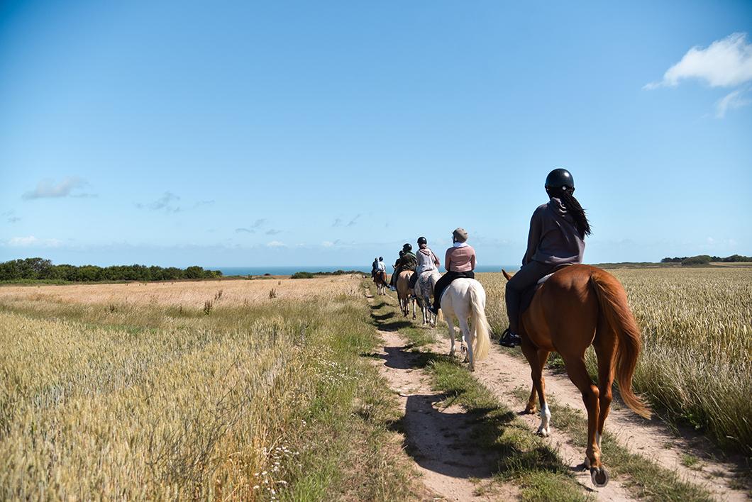 Balade à cheval à Étretat