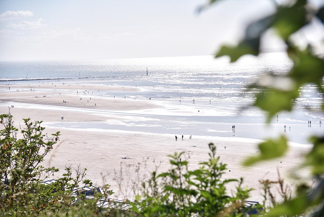 Point de vue sur la plage de Trouville