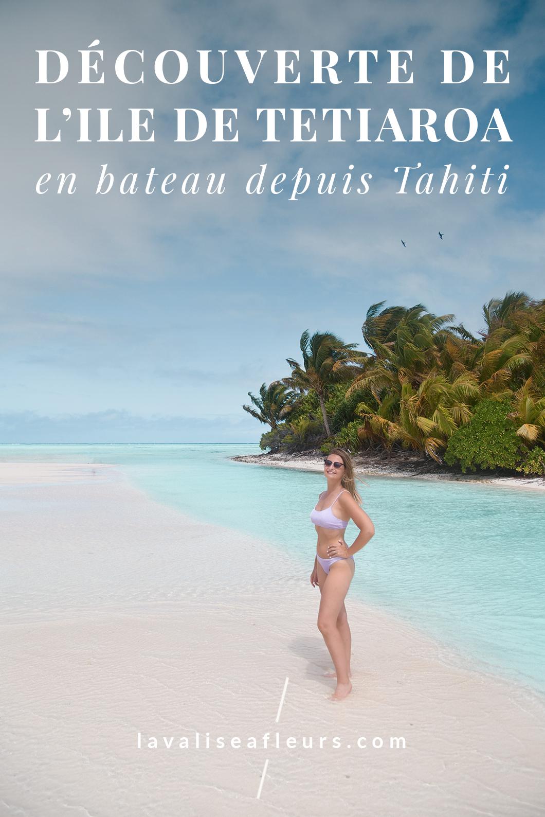 Découverte de l'ile de Tetiaroa en bateau depuis Tahiti
