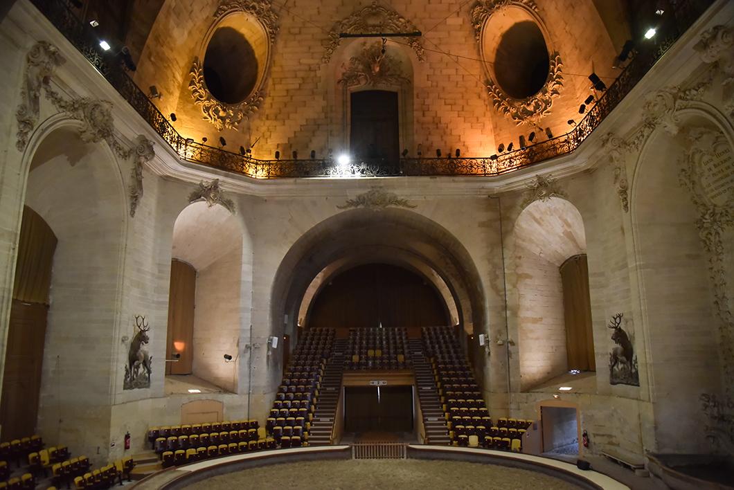 Salle des spectacles équestres dans les Grandes Écuries de Chantilly