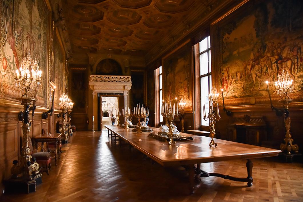 La salle du banquet du Château de Chantilly