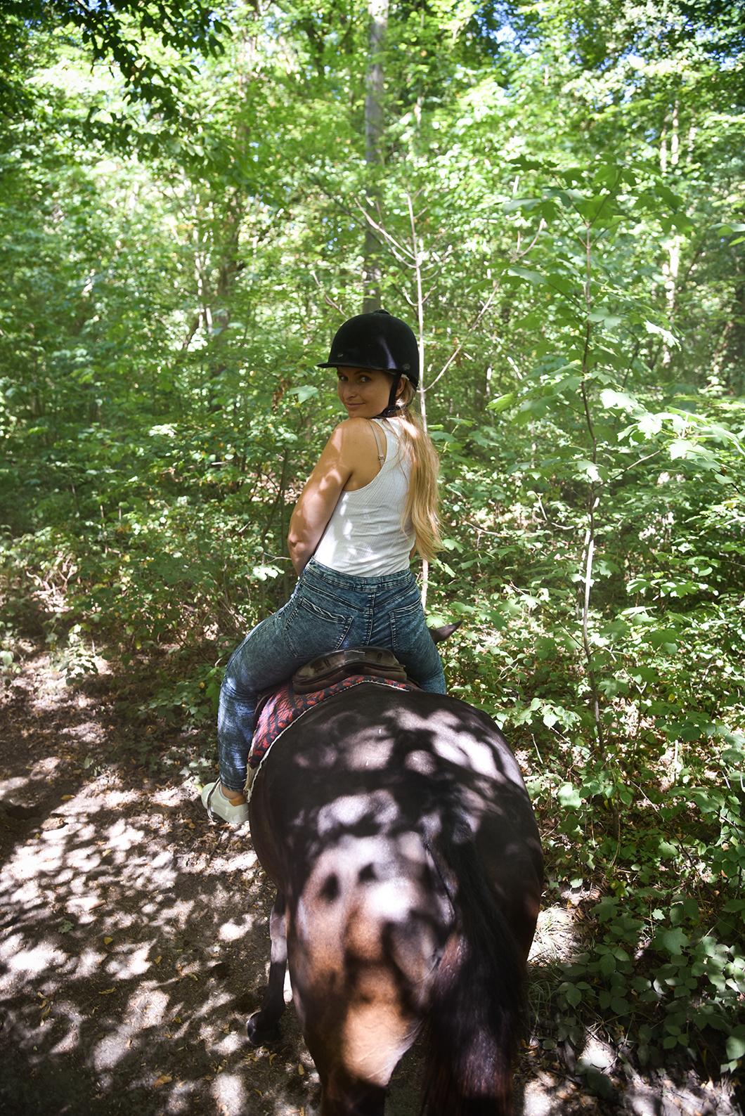 Balade à cheval dans la forêt de Chantilly
