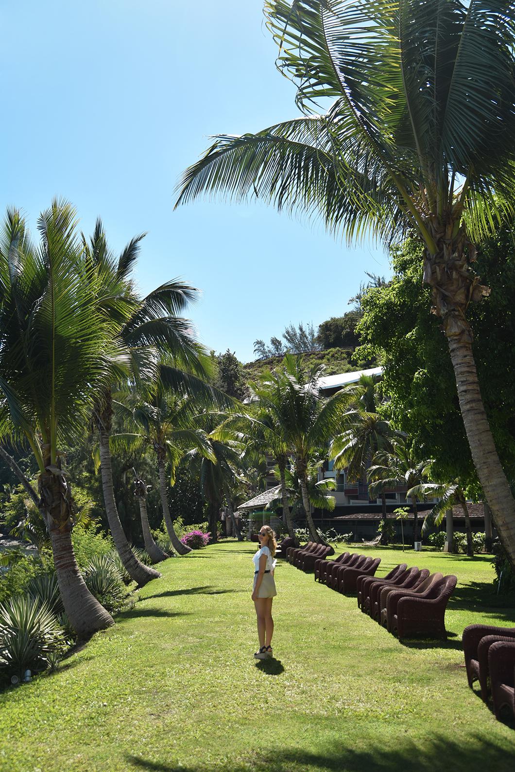 Les jardins de l'hôtel Tahiti Pearl Beach