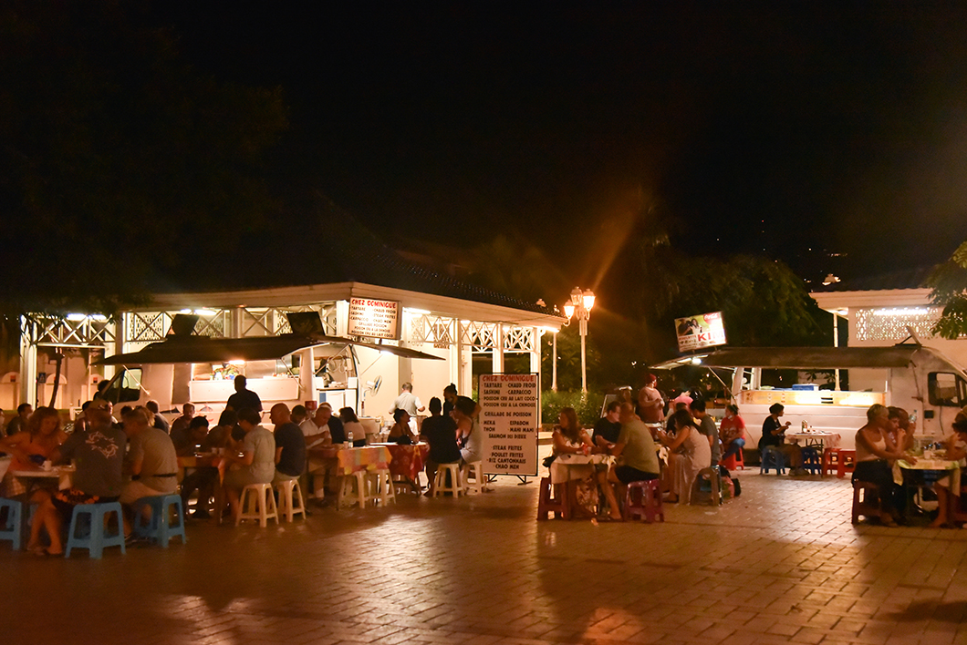 La place Vaiete à Papeete sur l'île de Tahiti