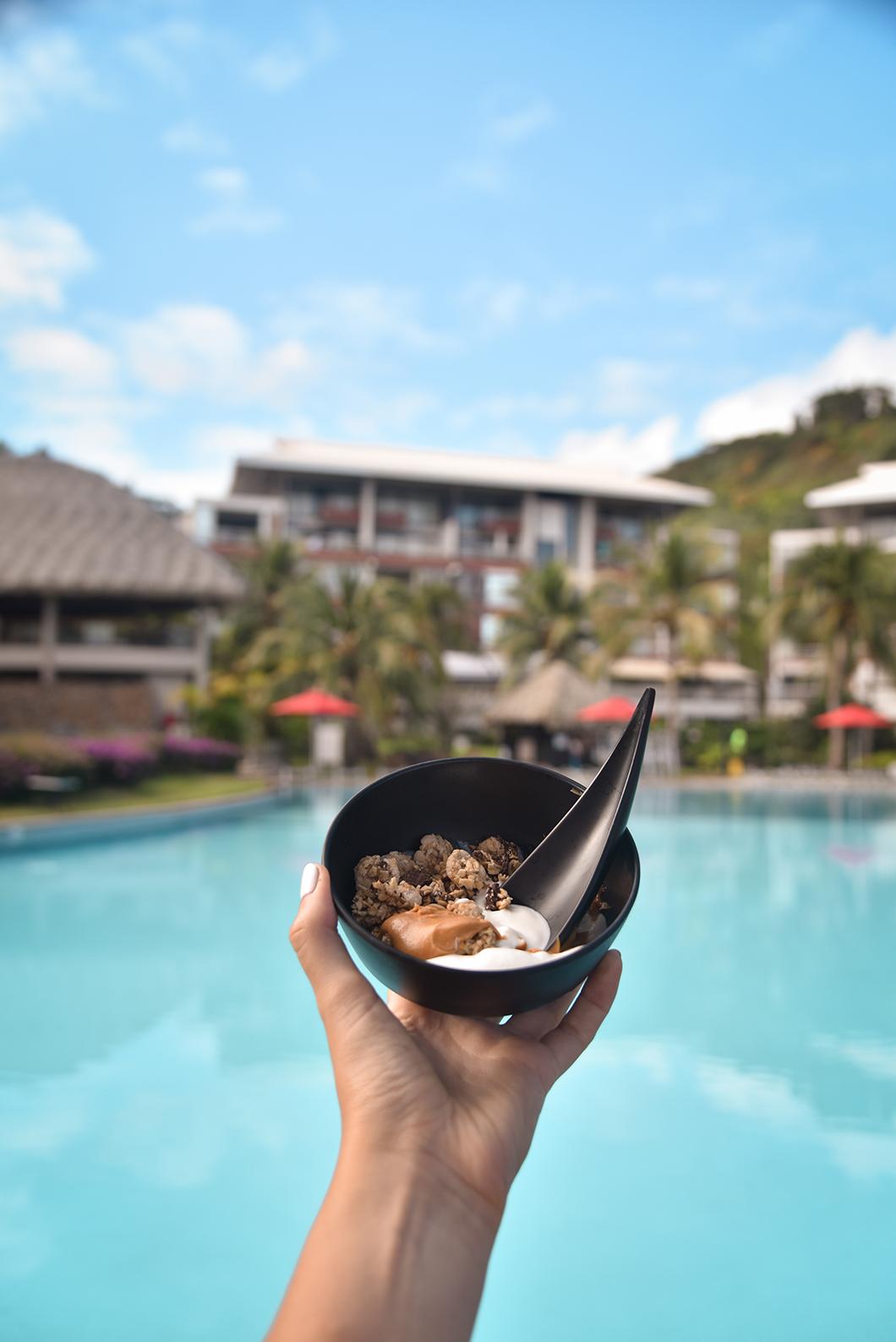 Petit déjeuner au Tahiti Pearl Beach