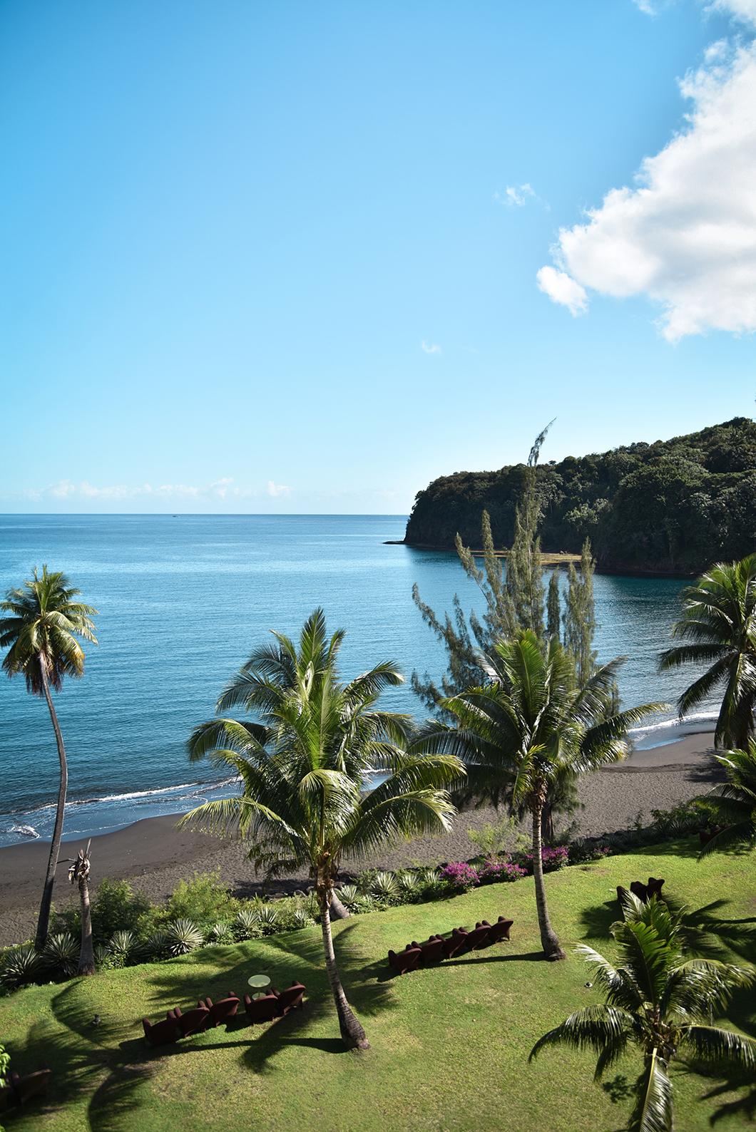 Vue depuis notre chambre au Tahiti Pearl Beach