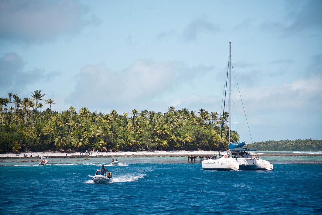 Aller en bateau sur l'île de Tetiaroa en Polynésie Française
