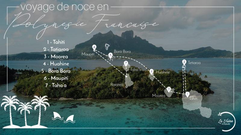 Itinéraire de 3 semaines en Polynésie Française pour un voyage de noce