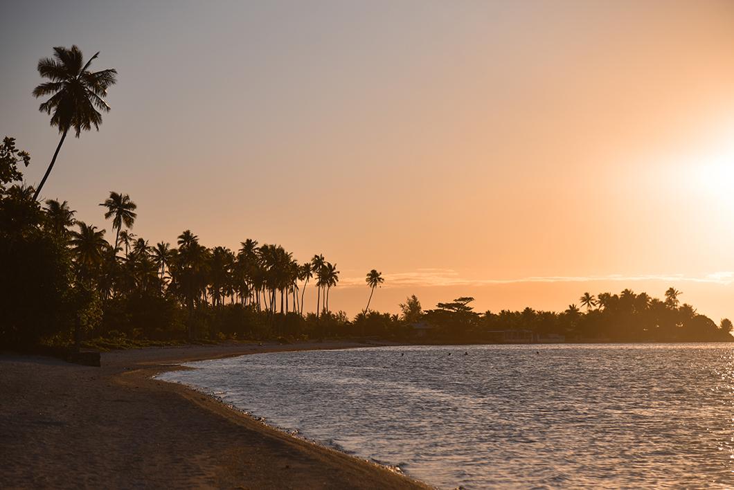 Lever de soleil au Sofitel Ia Ora Beach