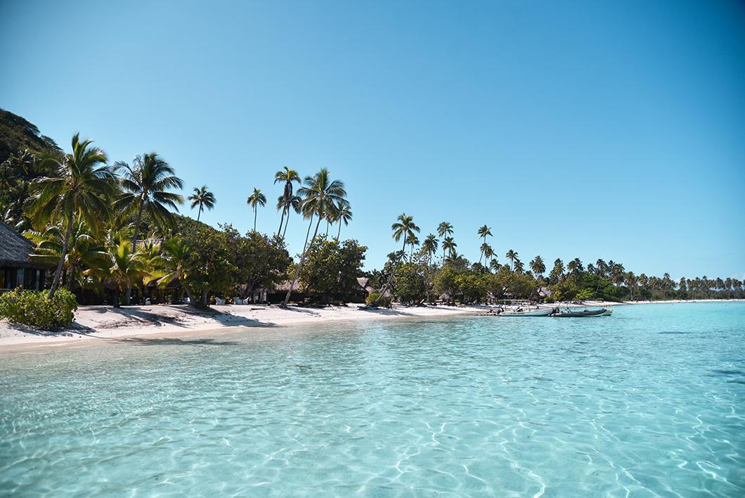 La plage Temae de l'hôtel Sofitel Ia Ora Beach
