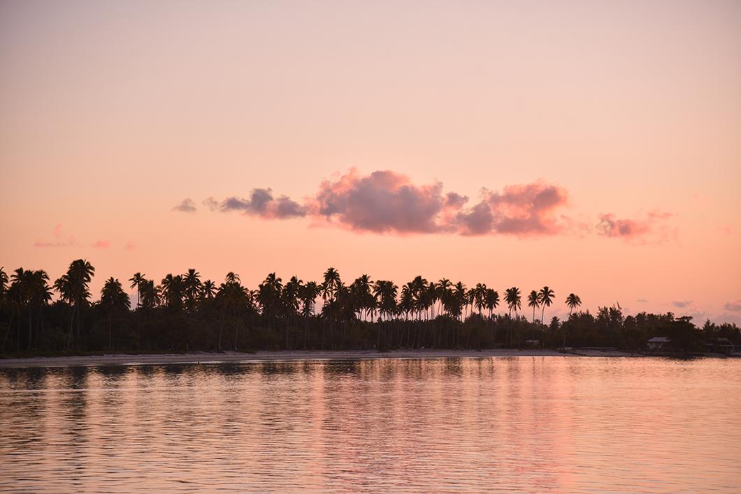 Meilleur endroit pour le coucher de soleil à Moorea en Polynésie Française