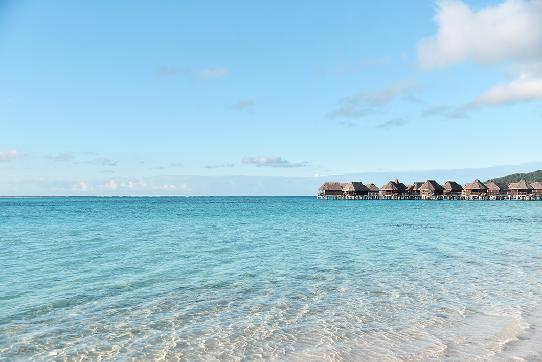La plage de Temae en Polynésie Française