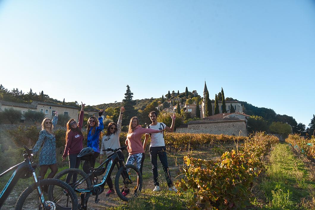 Balade en vélo en Provence Occitane à la Roque-sur-Cèze