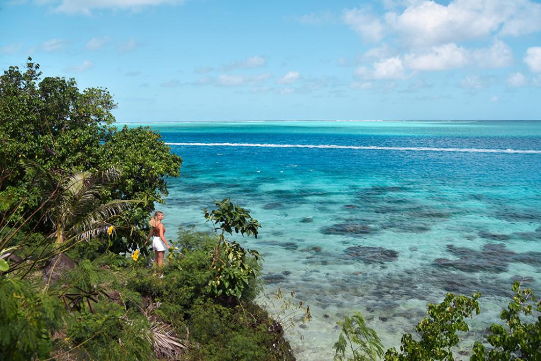 Les magnifiques nuances de couleurs du lagon de Huahine