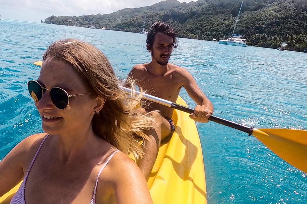 Faire du kayak à Huahine