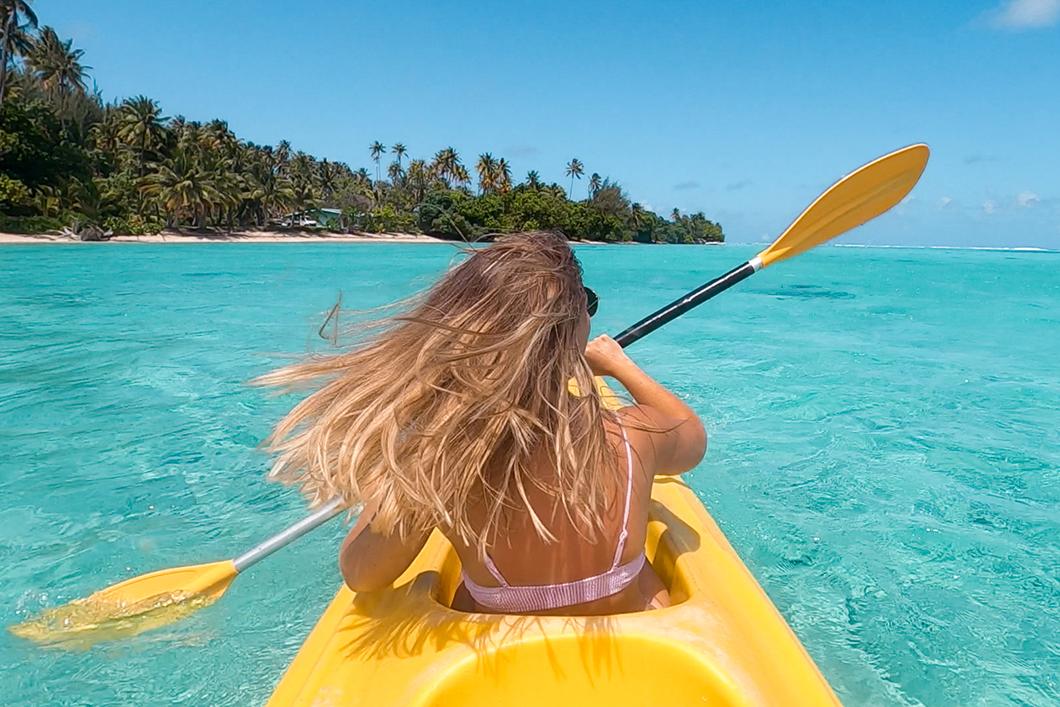 Kayak à Huahine, activité incontournable