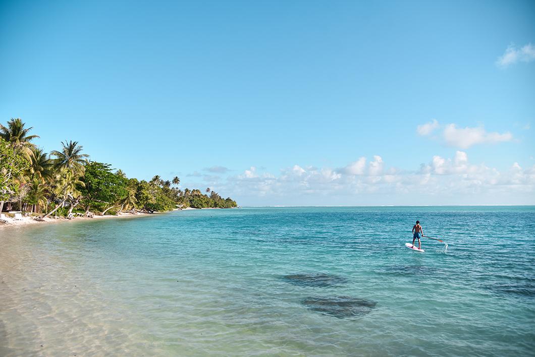 Faire du paddle, activité incontournable à Huahine