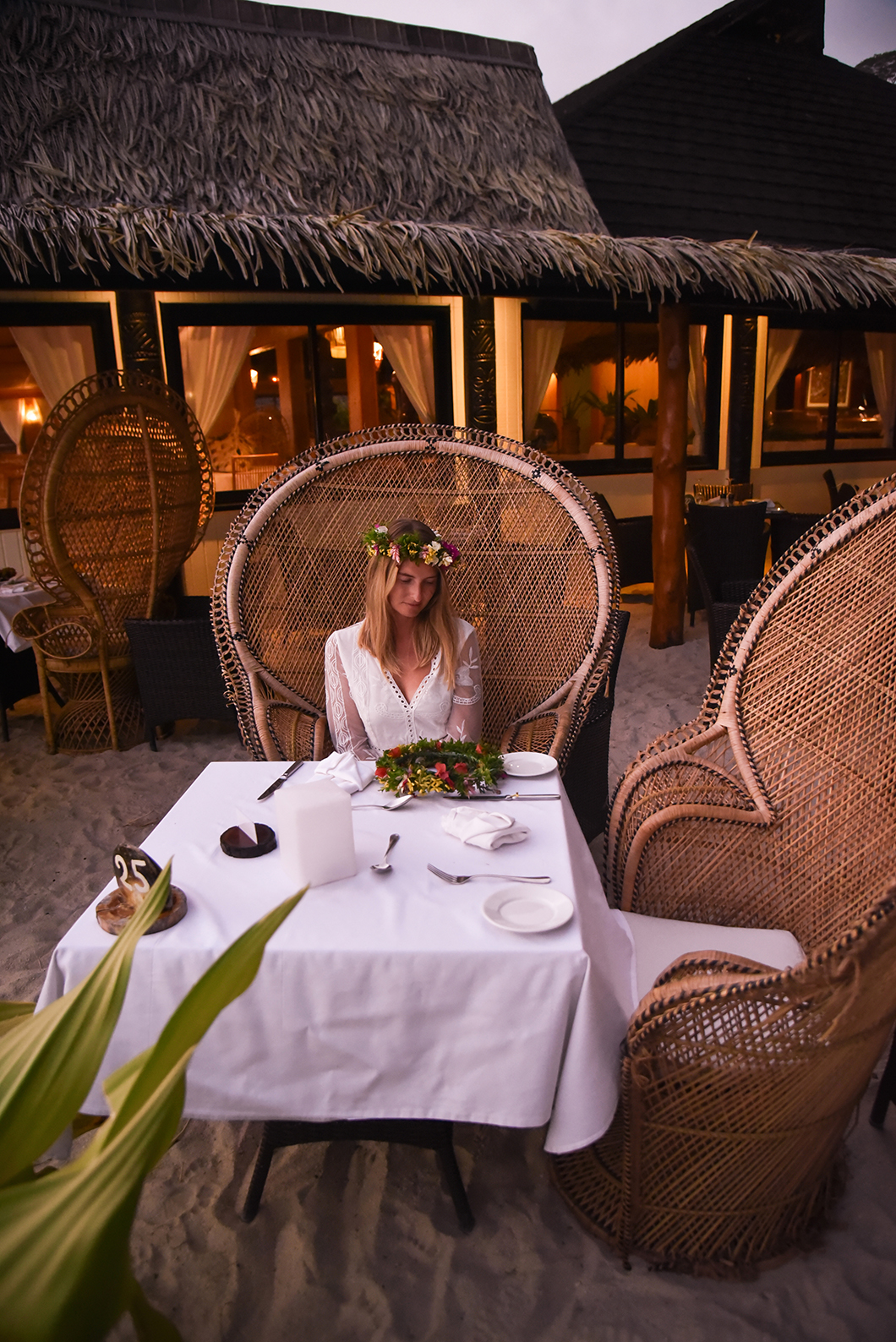 Où manger à Huahine ? Le restaurant de l'hôtel Le Mahana