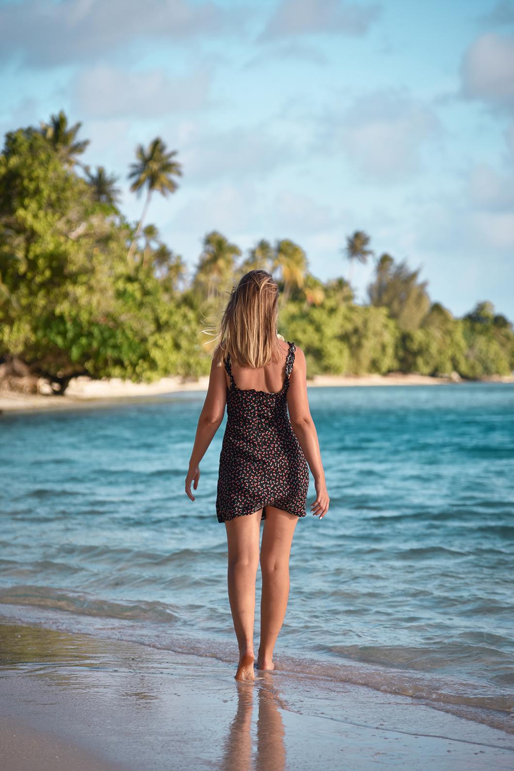 Soirée sur la plage à Huahine