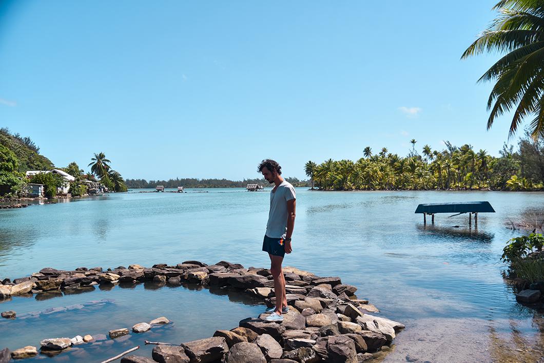Observer les parcs à poissons de Maeva à Huahine