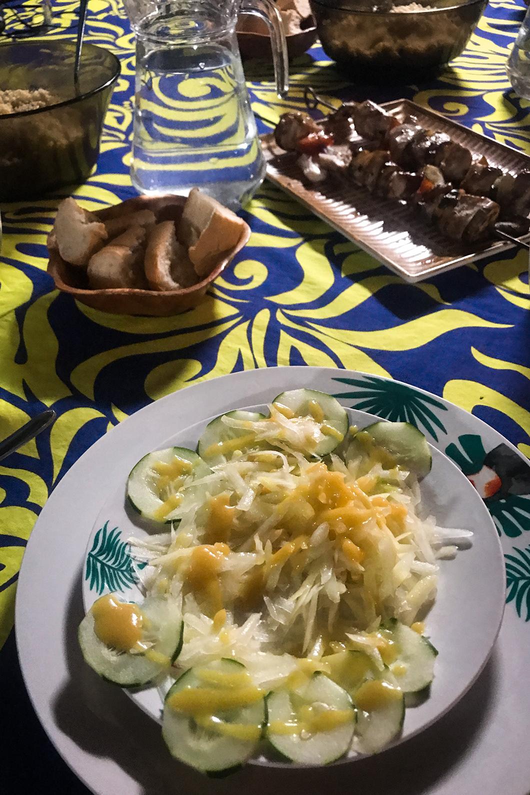Diner dans notre pension à Maupiti