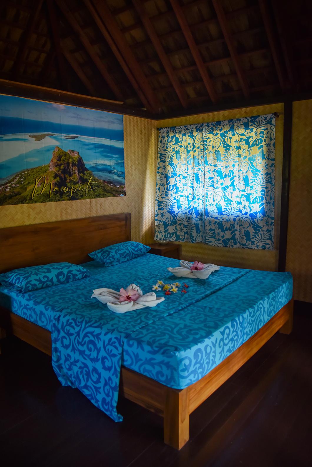 Notre chambre à la Fare Pae'ao à Maupiti