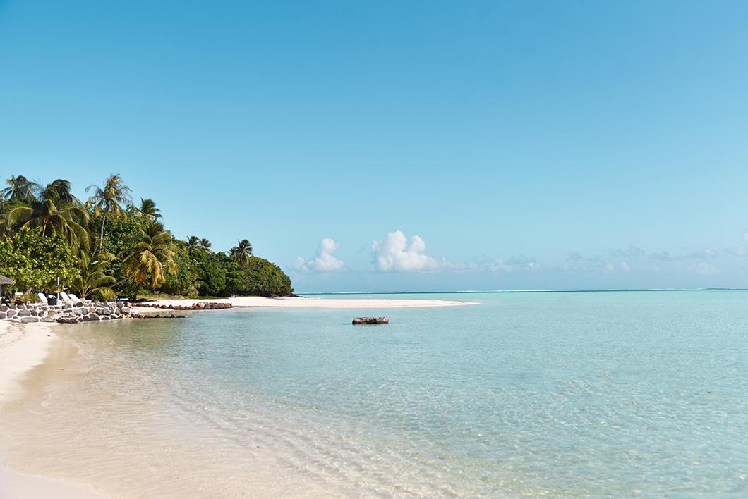 La plage deTerei'a à Maupiti en Polynésie Française