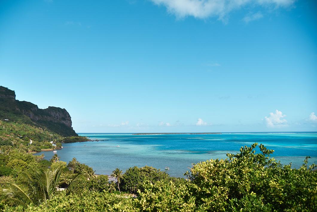 Les magnifiques nuances de couleurs du lagon de Maupiti