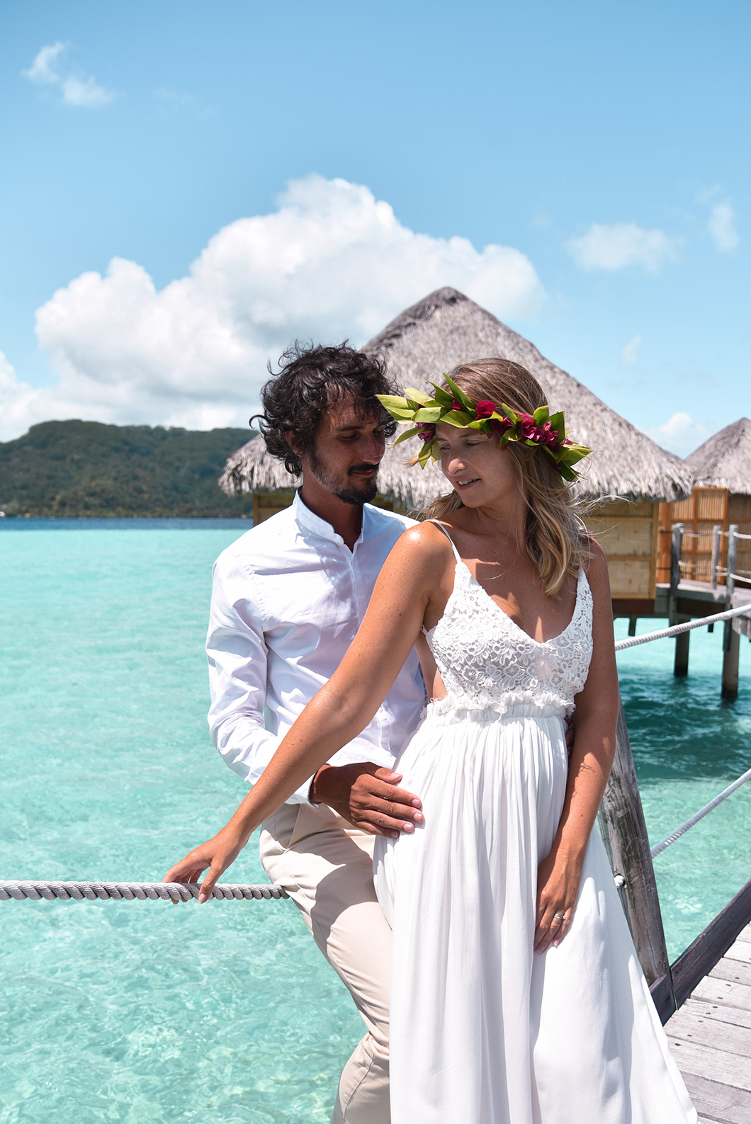 Shooting en amoureux au Taha'a Island Resort and Spa