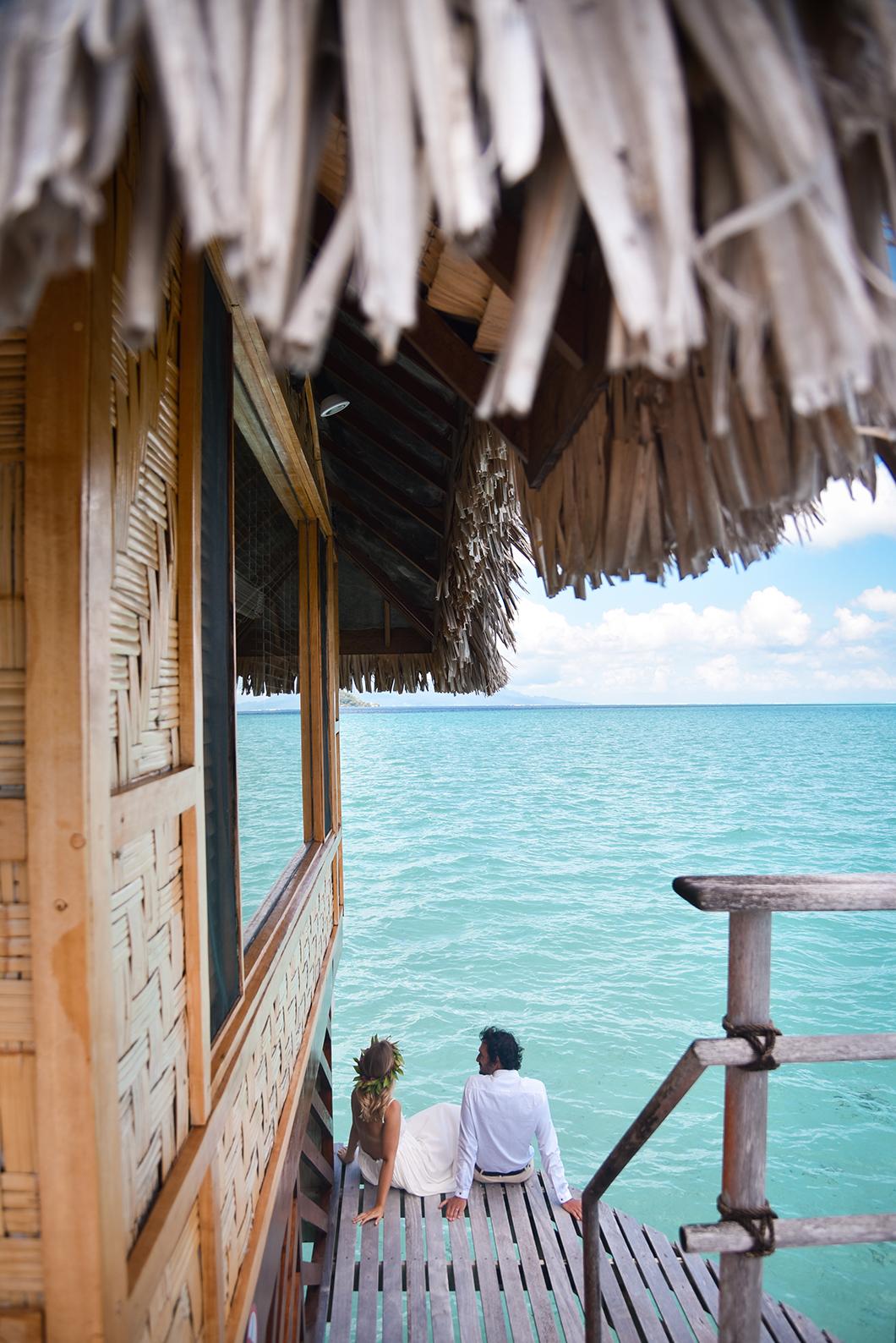 Photos de lune de miel en Polynésie Française