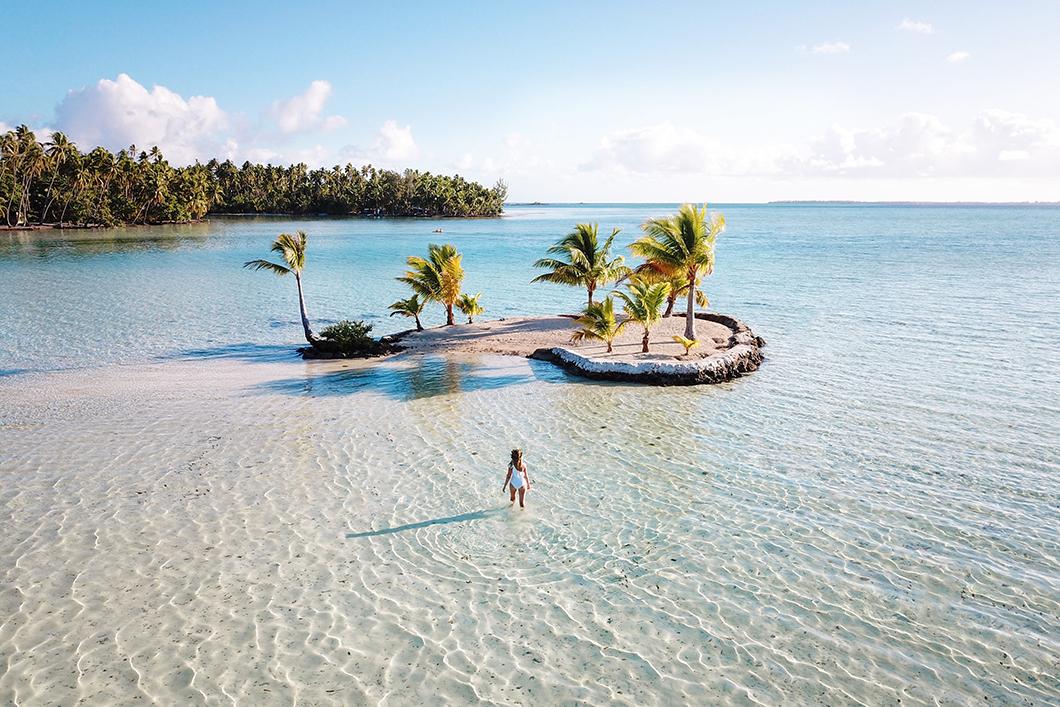 Le Taha'a Island Resort and Spa et son île en forme de coeur