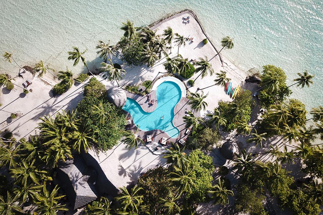 La piscine originale du Taha'a Island Resort and Spa