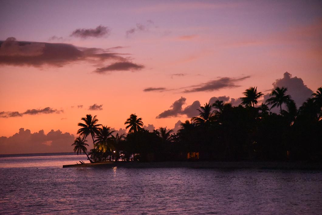 Taha'a Island Resort and Spa, super spot pour le coucher de soleil