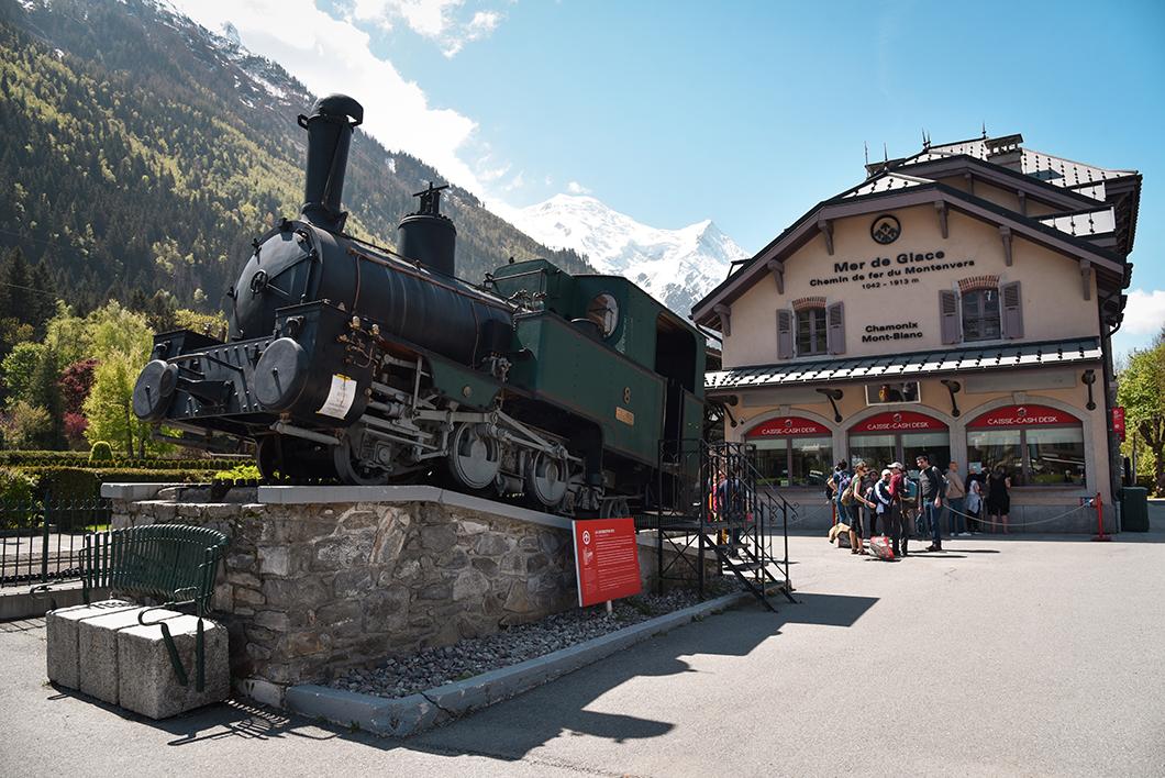 Train du Montenvers pour Mer de Glace