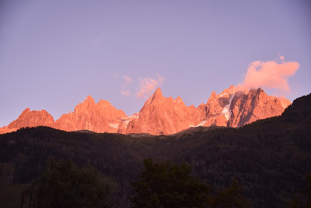 Coucher de soleil à Chamonix