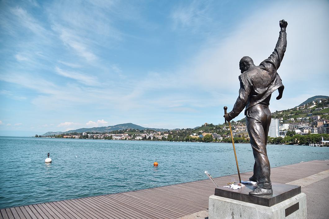 La statue de Freddie Mercury, incontournables à Montreux