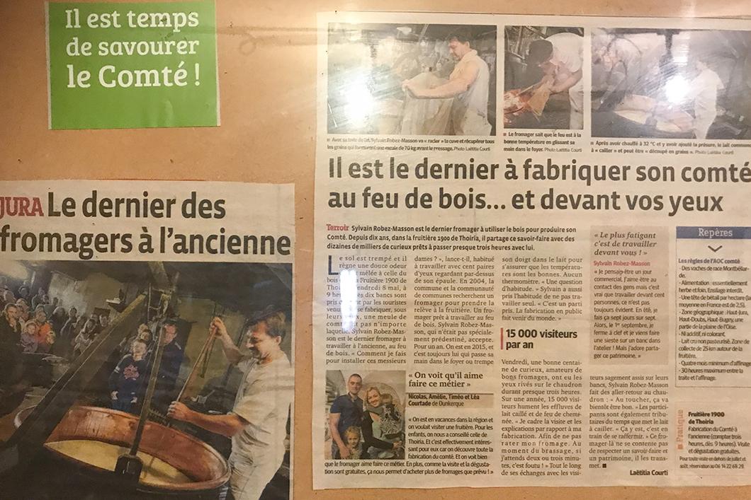 Visite de la Fruitière 1900 à Thoiria dans le Jura