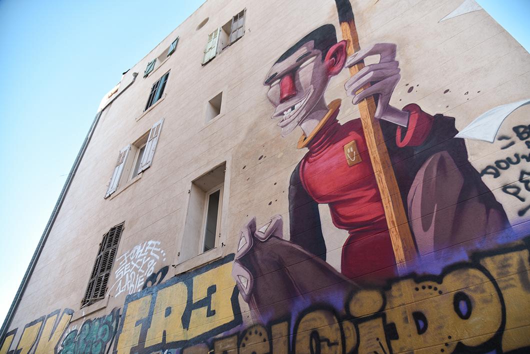 Fresque murale au Cours Julien de Marseille