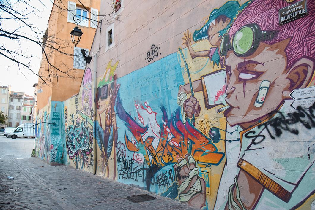 Street art dans le Panier à Marseille