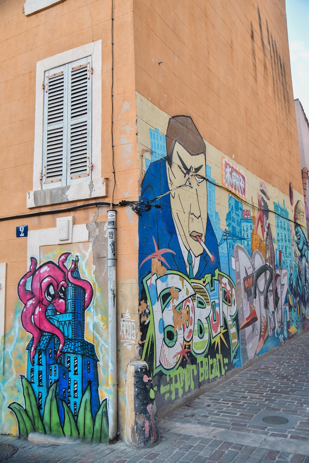 Où sont les plus belles oeuvres de street art de Marseille ? Le Panier