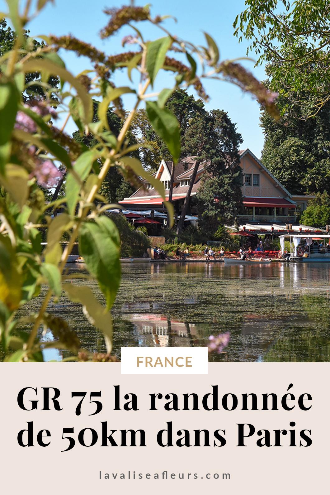 GR 75 la randonnée de 50km dans Paris