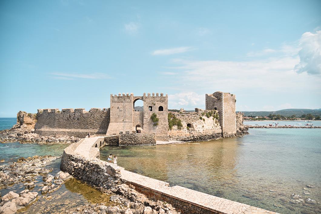 Point de vue au Château de Methoni