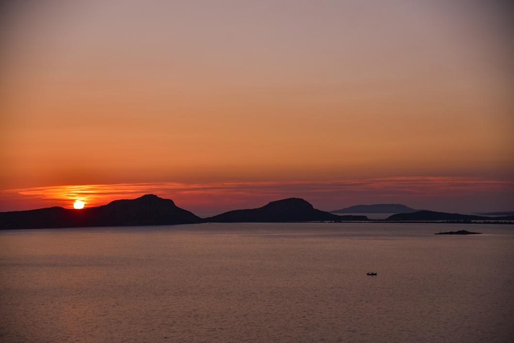 Sunset sur la mer Méditerranée