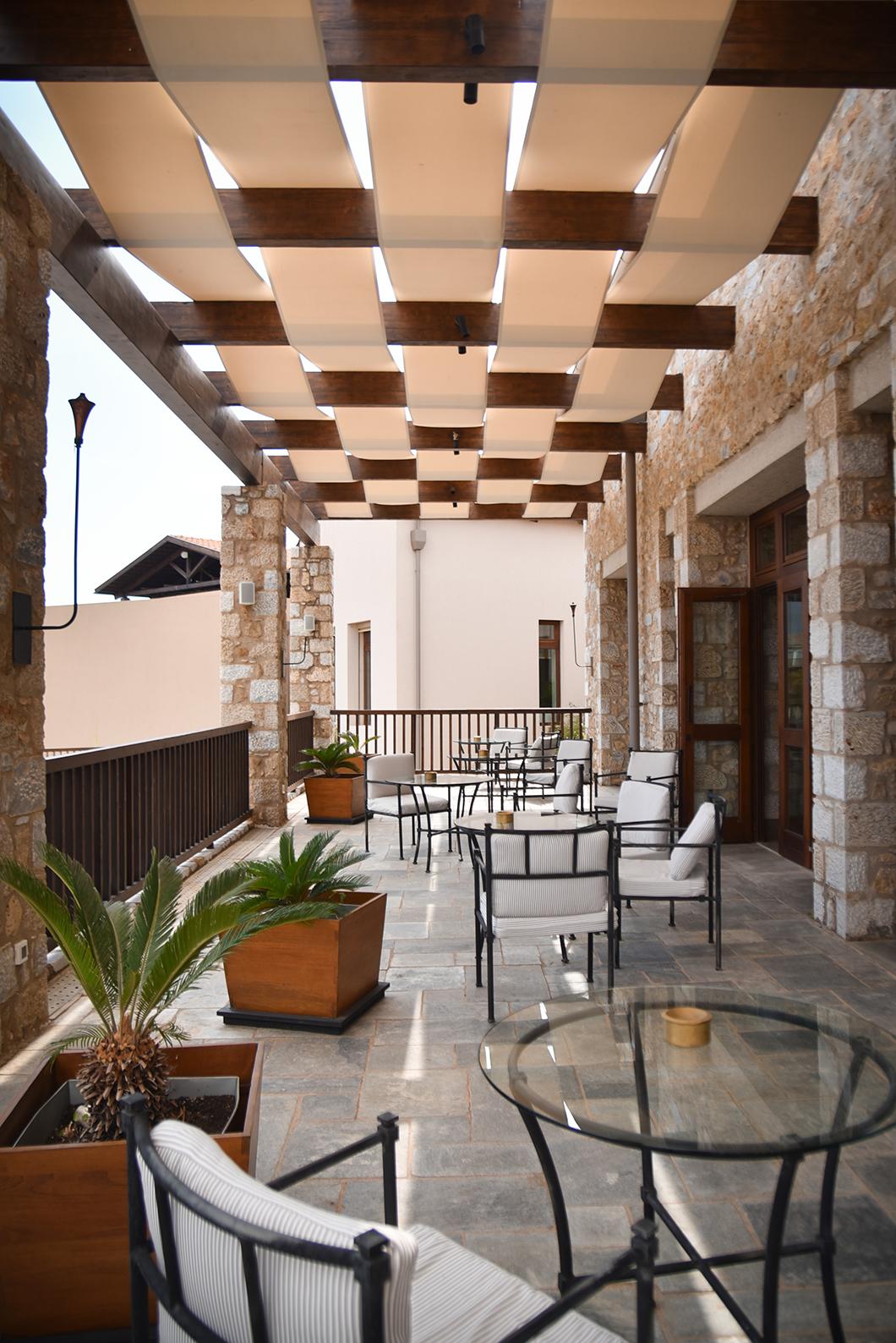 Architecture du Westin Resort sur la Costa Navarino